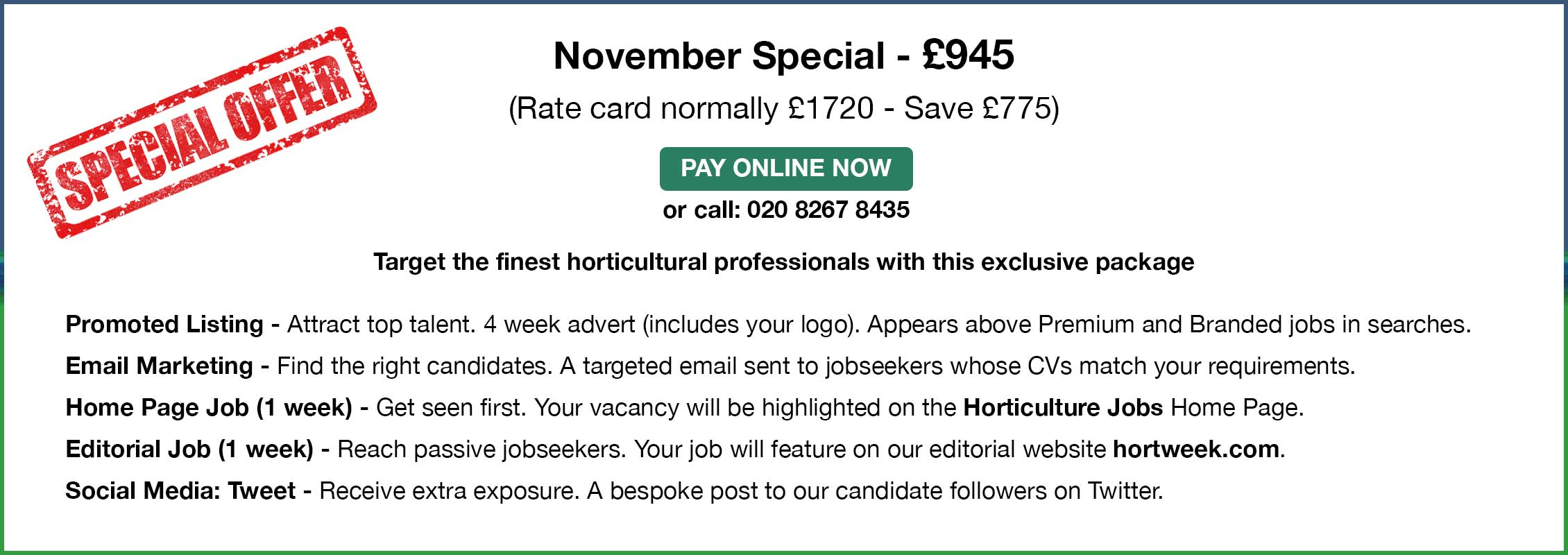 November Special - £945.